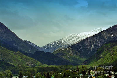 Mountains Beyond Skagway Art Print