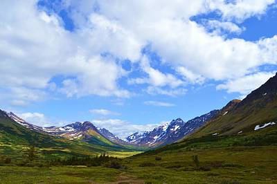 Mountains In Anchorage Alaska Art Print