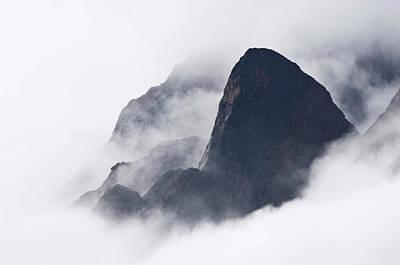 Mountains In Fog, Prince Christian Art Print by Daisy Gilardini