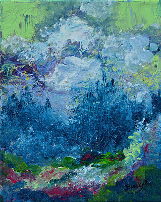 Painting - Mountains In Spring by Donna Blackhall