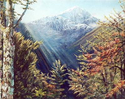 Painting - Mountains In The Mist by Peter Jean Caley