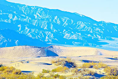 Looms Digital Art - Mountains Loom Over Mesquite Flat Sand Dunes In Death Valley National Park- California  by Ruth Hager