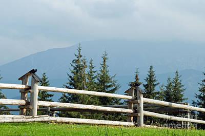 Calm Photograph - Mountains by Michal Bednarek