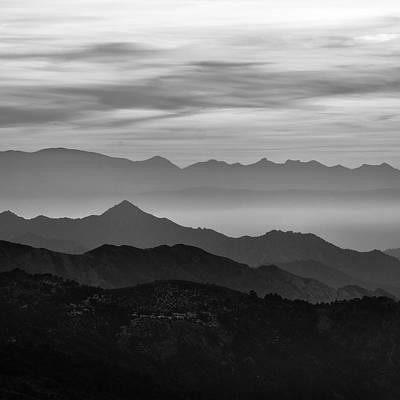 Mountains Mist Art Print