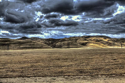 Photograph - Mountains Near Westley Ca by SC Heffner