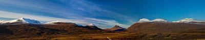 Mountains Of Assynt Panorama Art Print by Derek Beattie