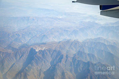 Photograph - Mountains Of China - Aerial View Of Gansu Province by David Hill