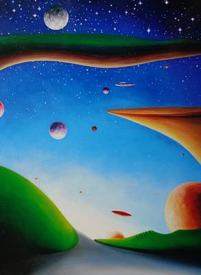 Must See Painting - Mountains Of Galaxies by Extranjerocus