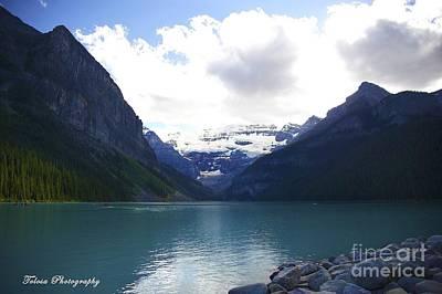 Wall Art - Photograph - Mountains Of Lake Louise by Christine Mlynarchuk