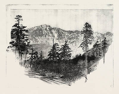 Mountains Of The Tibet Frontier 17000 Feet High Art Print by English School