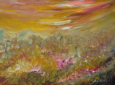 Painting - Mountains Of Wild Flowers by Joanne Smoley