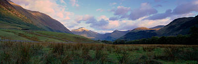 Nevis Photograph - Mountains On A Landscape, Glen Nevis by Panoramic Images