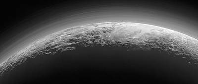 Mountains On Pluto Art Print by Nasa