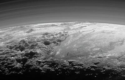 Mountains On Pluto Art Print by Nasa/johns Hopkins University Applied Physics Laboratory/southwest Research Institute