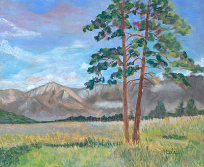 Painting - Mountains Outside Jasper by Calliope Thomas