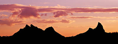 Photograph - Mountains Silhouette At Sunset - Mauritius by Barry O Carroll