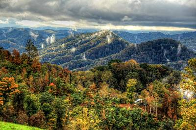 Mountains Smoking Art Print by Heavens View Photography
