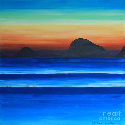 Painting - Island Sunset At Sea  by Robyn Saunders