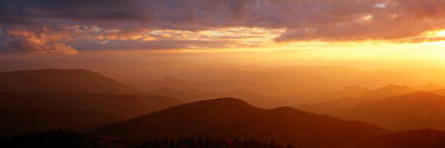 Mountains, Sunset, Blue Ridge Parkway Art Print by Panoramic Images