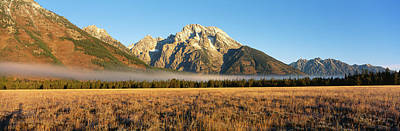 Mountains Surrounded With Fog, Mt Art Print