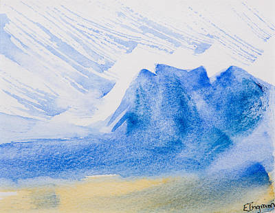 Mountains Tasmania Art Print by Elvira Ingram