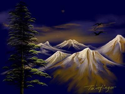 Painting - Mountains by Twinfinger