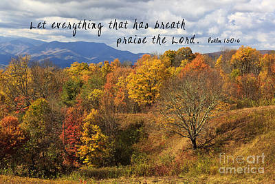 Photograph - Mountains With Scripture by Jill Lang
