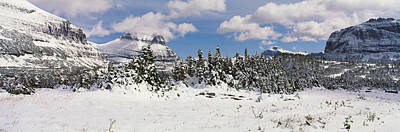 Fir Trees Photograph - Mountains With Trees In Winter, Logan by Panoramic Images