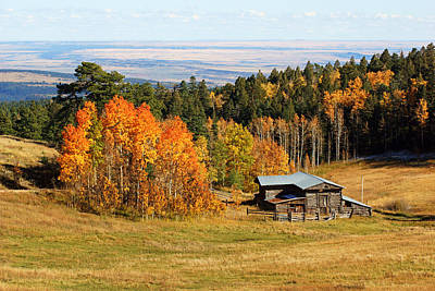 Photograph - Mountainside Barn In Autumn by Daniel Woodrum