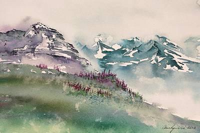 Mountainside Fireweed Art Print by Carolyn Doe