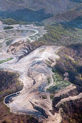 Mountaintop Removal Coal Mining Art Print