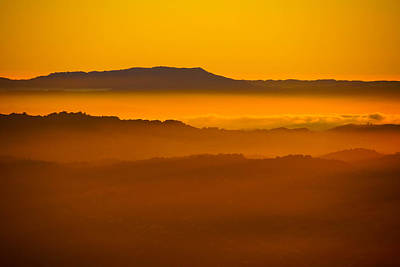 Photograph - Mountaintop Sunset by Michael Courtney