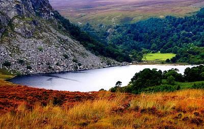 Photograph - Mountainy Sapphire. Lough Tay. Ireland by Jenny Rainbow