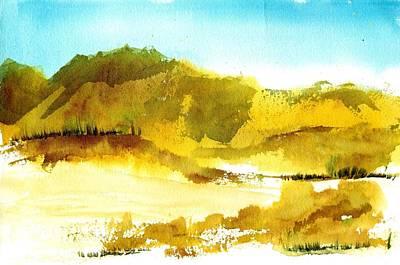 Mountan Desert Art Print