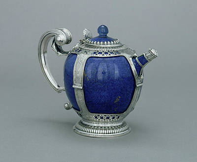 Teapot Drawing - Mounted Teapot Unknown Porcelain About 1662 - 1690 Mounts by Litz Collection