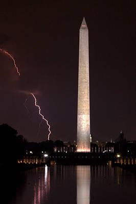 Photograph - Mounumental Lightning Strike by Jerry Gammon