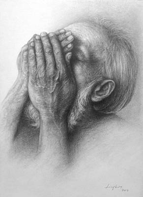 Crying Drawing - Mournful Cry by LingKit Lo
