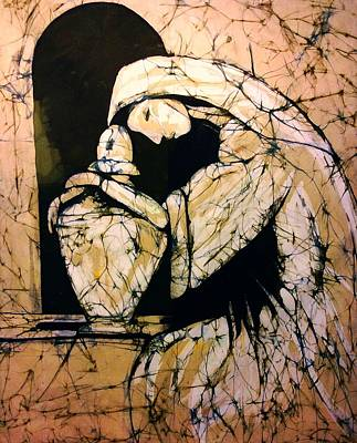 Tapestry - Textile - Mourning Angel by Kay Shaffer