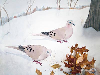 Mourning Doves Art Print by Laurel Best