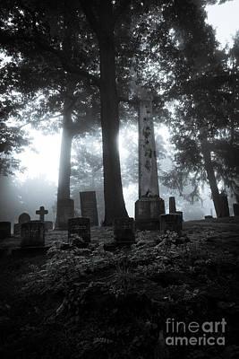 Creepy Digital Art - Mourning Fog by CM Goodenbury