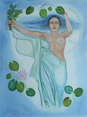 Fertility Symbols Painting - Mourning Victory Submerged by Diana Perfect