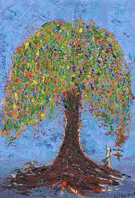 Painting - Mouse And Tree by William Killen