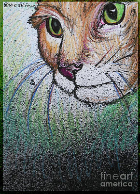 Friend Holiday Card Mixed Media - Mouse Beware by M C Sturman