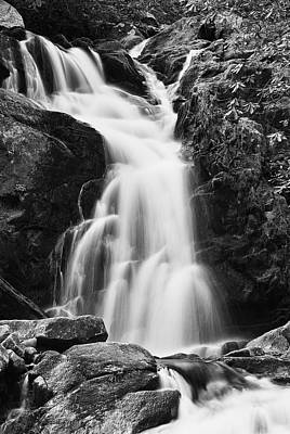 Photograph - Mouse Creek Falls - Black And White by Photography  By Sai