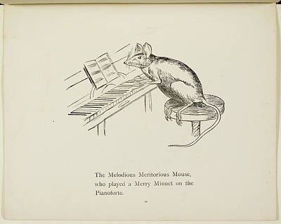 Edition Photograph - Mouse Playing Piano by British Library