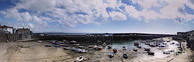 Mousehole Photograph - Mousehole Panorama 2 by Linsey Williams