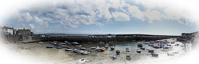 Mousehole Photograph - Mousehole Panorama by Linsey Williams