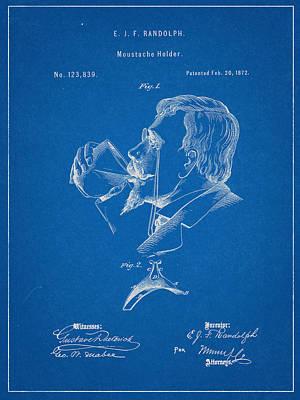 Moustache Guard Patent Art Print by Decorative Arts
