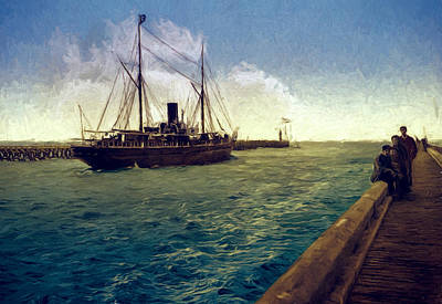 Mouth Of The Harbor Art Print