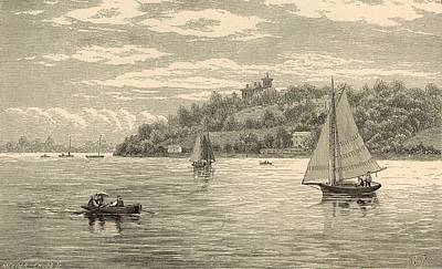 Mouth Of The Shrewsbury River 1872 Engraving Art Print by Antique Engravings